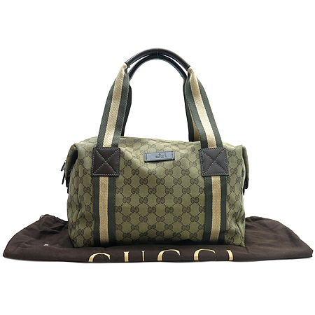 Gucci(구찌) 235135 GG 로고 자가드 삼색스티치 캐리온 더플백