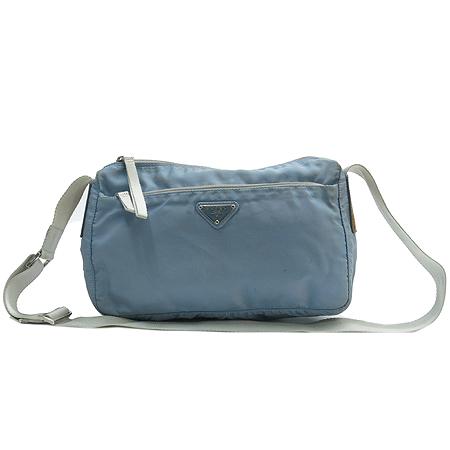 Prada(프라다) B10140 블루 컬러 패브릭 크로스백