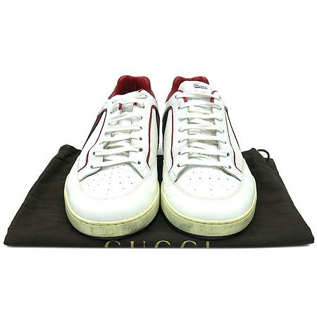 Gucci(구찌) 256649 삼선 매쉬 레더 남성 스니커즈