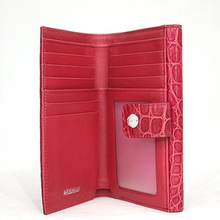 KWANPEN(콴펜) SLGCNC 896 KISS 크로크다일 핑크 2단 중지갑 [명동매장]