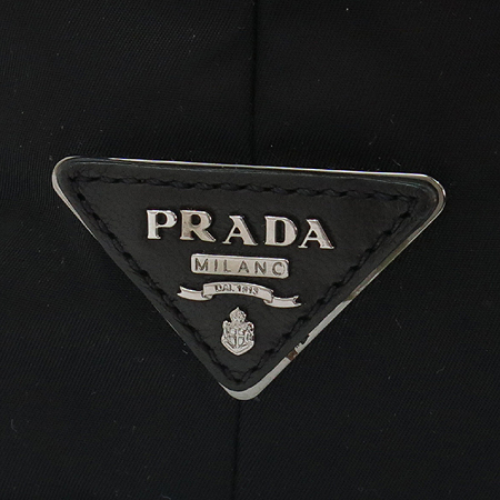 Prada(프라다) BR4490 측면 실버 메탈 레더 로고 TESSUTO(테수토) 양면 빅 토트백 + 숄더스트랩