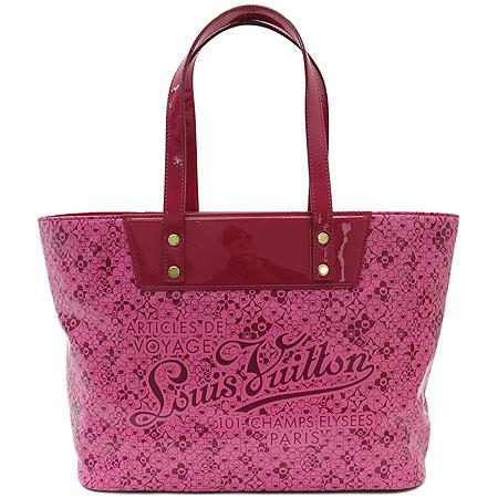 Louis Vuitton(루이비통) M93160 코스믹블라섬 핑크 페이던트 트리밍 쇼퍼 숄더백[무라카미다카시 한정판] 이미지2 - 고이비토 중고명품