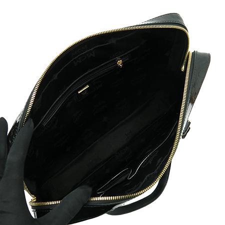 MCM(엠씨엠) 1010100110309 금장 로고 장식 블랙 페이던트 브리프케이스 토트백