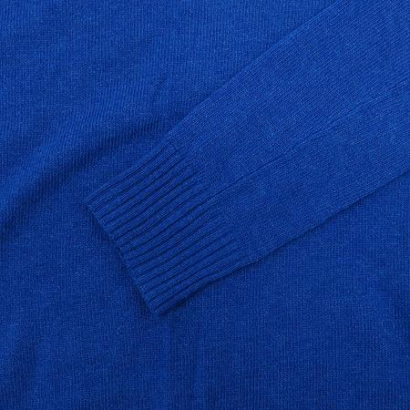 Polo Ralphlauren(폴로) 블루 컬러 캐시미어 혼방 V넥 니트