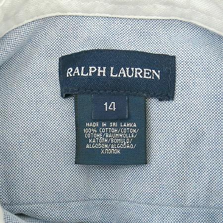 Polo Ralphlauren(폴로) 아동용 블루 컬러 카라 반팔 원피스