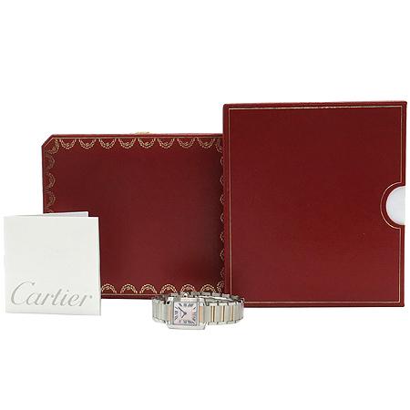 Cartier(까르띠에) W51027Q4 탱크 프랑세즈 18k 핑크 골드 콤비 핑크 자개판 쿼츠 S사이즈 시계 [명동매장]