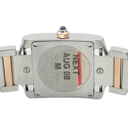 Cartier(까르띠에) W51027Q4 탱크 프랑세즈 18k 핑크 골드 콤비 핑크 자개판 쿼츠 S사이즈 시계 [명동매장] 이미지5 - 고이비토 중고명품