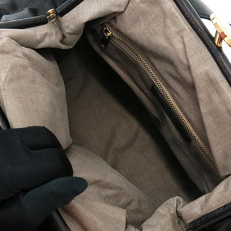 Marc_Jacobs (마크 제이콥스) 블랙 컬러 레더 금장 체인 스탐 숄더백