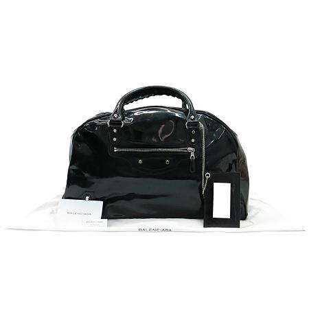 Balenciaga(발렌시아가) 203250 블랙 컬러 에나멜 토트백
