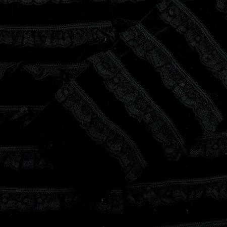 Cacharel(까사렐) 아동용 블랙컬러 레이스 코트