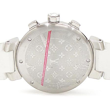 Louis Vuitton(루이비통) Q132C 땅부르 러블리컵 크로노 그래프 러버 밴드 여성용 시계