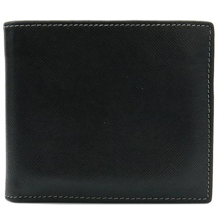 Paul Smith(폴스미스) P335280002 블랙레더 로고스탬핑 8크레딧카드 반지갑