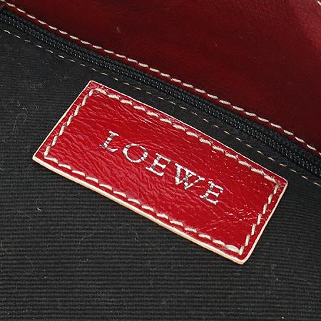 Loewe(로에베) 레드 애나멜 로고 스티치 투 포켓 숄더백
