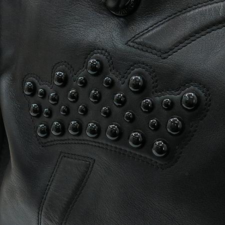 Loewe(로에베) 블랙레더 로고 장식 스티치 투 포켓 숄더백 이미지4 - 고이비토 중고명품