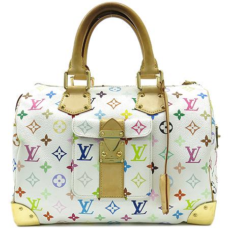 Louis Vuitton(루이비통) M92643 모노그램 멀티 컬러 화이트 스피디 30 토트백