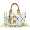 Louis Vuitton(루이비통) M92643 모노그램 멀티 컬러 화이트 스피디 30 토트백 [대전본점]