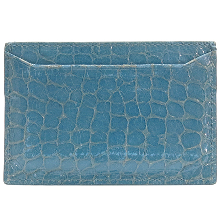 MiuMiu(미우미우) 스카이 블루 크로커다일 패턴 명함지갑 [강남본점] 이미지3 - 고이비토 중고명품