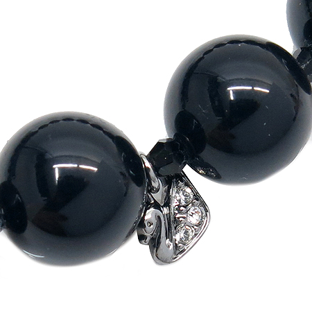 Swarovski(스와로브스키) 블랙 구슬 장식 목걸이