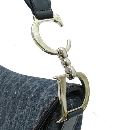 Dior(크리스챤디올) 로고 자가드 플라이트 새들 숄더백