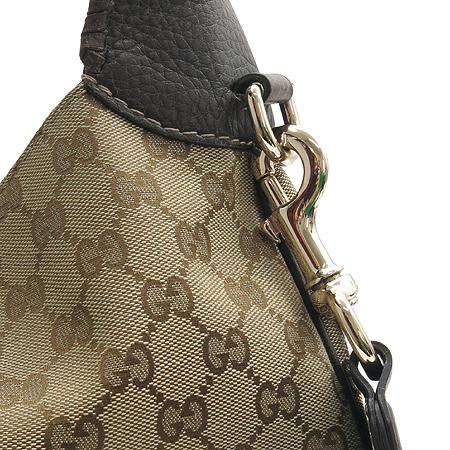 Gucci(구찌) 246907 GG로고 자갸드 브라운 레더 트리밍 숄더백 [동대문점]