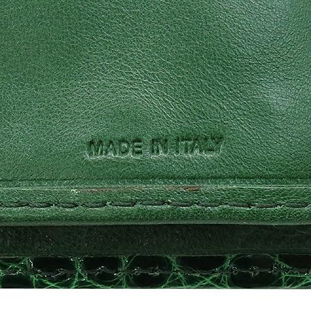 COLOMBO(콜롬보) 그린 크로커다일 레더 타스코네 장지갑 이미지5 - 고이비토 중고명품