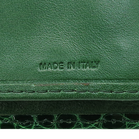 COLOMBO(콜롬보) 그린 크로커다일 레더 타스코네 장지갑