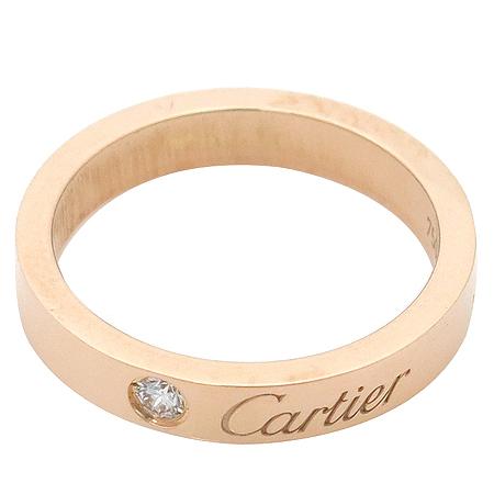 Cartier(까르띠에) B4086400 18K(750) 핑크 골드 1포인트 다이아 웨딩 밴드 반지 -7호 이미지4 - 고이비토 중고명품
