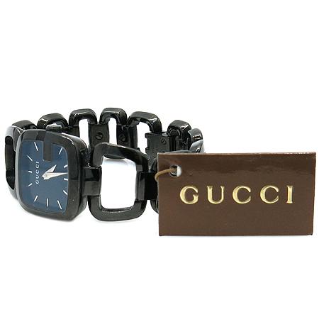 Gucci(구찌) YA125403 125.5 블랙 스틸 여성용 시계