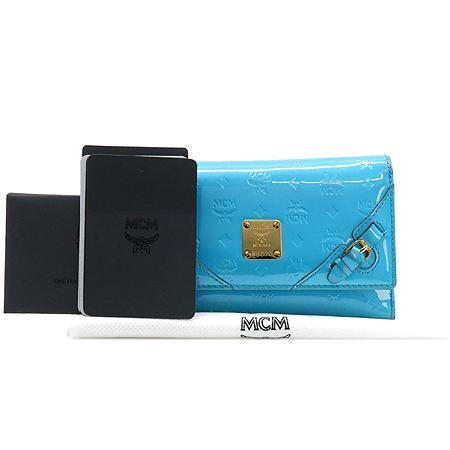 MCM(엠씨엠) 1032102020409 금장 로고 장식 여성용 중지갑