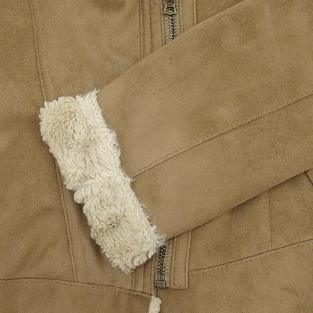 BENETTON(베네통) 양털카라 브라운 컬러 무스탕 자켓 (카라: 양털 100) [동대문점]