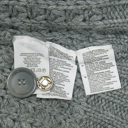 H&M(에이치엔엠) 그레이컬러 앙고라혼방 민소매 가디건