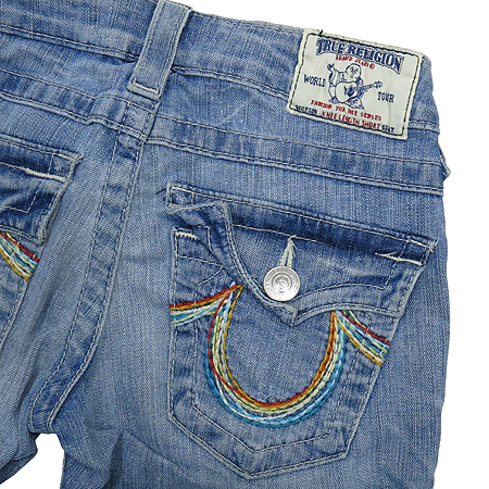 TRUERELIGION(트루릴리젼) KNEE LENGTH SHORT 연청바지