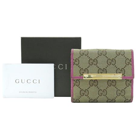 Gucci(구찌) 112716 GG 로고 자가드 3단 반지갑