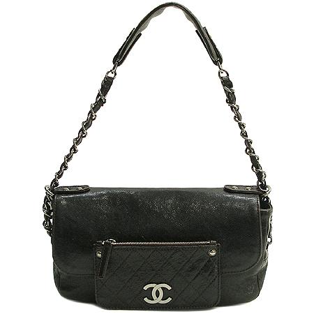 Chanel(샤넬) 캐비어스킨 다크브라운 원 포켓 짚업 은장로고 체인 숄더백 이미지2 - 고이비토 중고명품