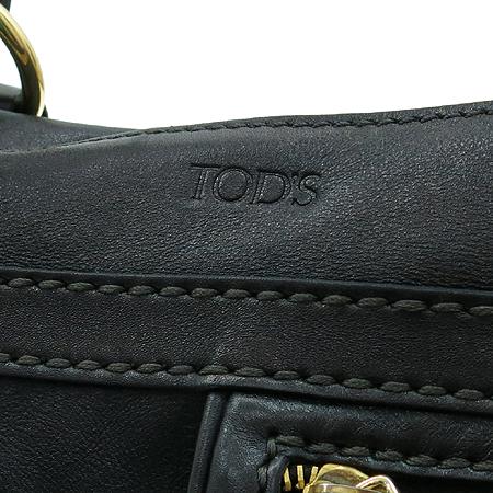 Tod's(토즈) 투포켓 블랙 레더 토트백