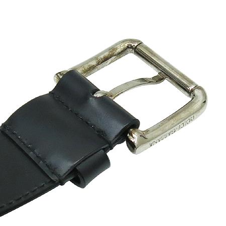 D&G(돌체&가바나) BC1726 블랙 레더 은장 버클 장식 남성용 벨트 이미지4 - 고이비토 중고명품