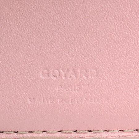 GOYARD(고야드) PVC 로고 장식 핑크 6크레딧 반지갑 [압구정매장]