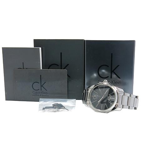 Calvin Klein(캘빈클라인) K7741161 라운드 스틸밴드 남성용 시계