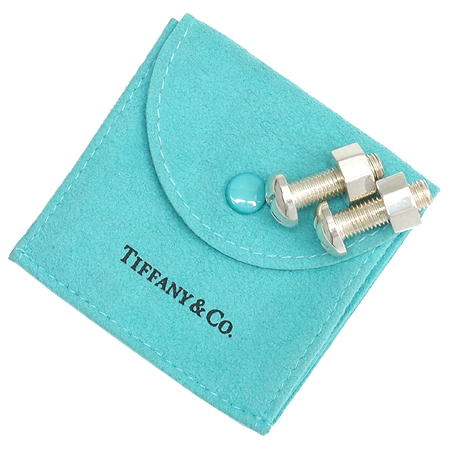 Tiffany(티파니) 925(실버) 볼트 장식 커브스 버튼