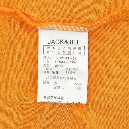 JACK & JILL(잭&질) 스퀘어 넥 오렌지 컬러 나시