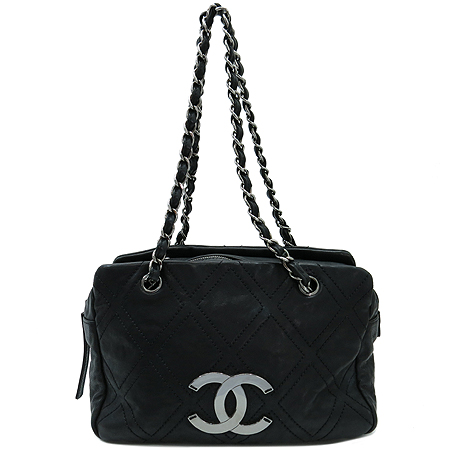 Chanel(샤넬) A32454Y04154 블랙 레더 은장 체인 숄더백