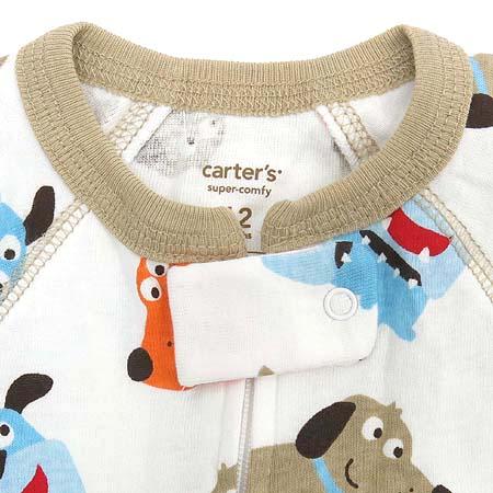 CARTER'S(카터스) 유아용 화이트컬러 강아지패턴 우주복