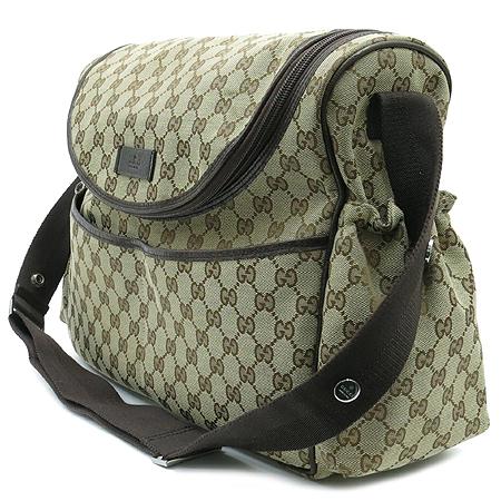 Gucci(구찌) 123326 GG로고 자가드 집업 포켓 크로스백