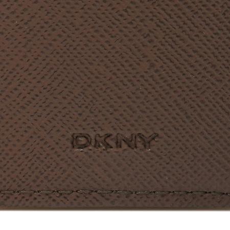 DKNY(도나카란) 골드 메탈 장식 사피아노 레더 중지갑