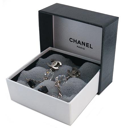 Chanel(샤넬) coco로고 크리스탈 장식 귀걸이