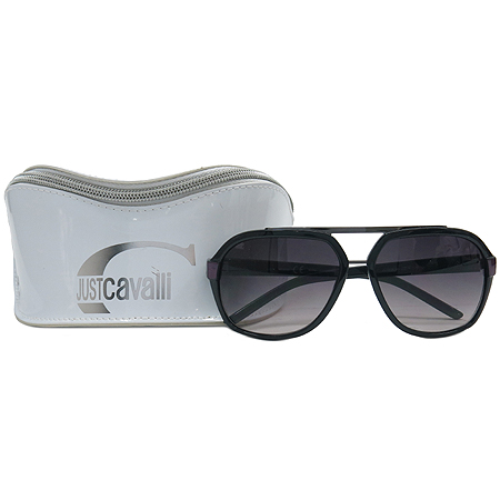CAVALLI(카발리) JC320S 측면 로고 블랙 퍼플 뿔테 선글라스