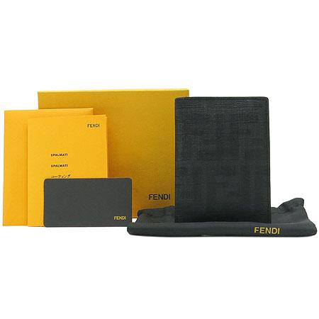 Fendi(펜디) 7M015 블랙 FF쥬카 PVC 레더 혼방 카드지갑