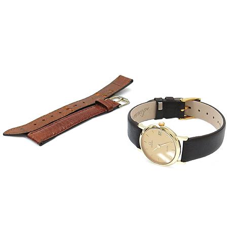 Omega(오메가) 18K 금통 가죽밴드 De Ville(드빌) 여성용 시계