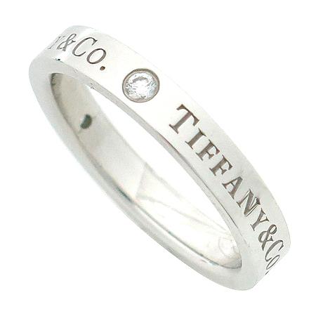 Tiffany(티파니) PT950(플래티늄) Tiffany&Co 로고 3포인트 다이아 반지-10호