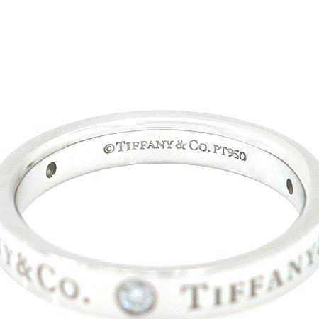 Tiffany(티파니) PT950(플래티늄) Tiffany&Co 로고 3포인트 다이아 반지-10호 이미지4 - 고이비토 중고명품